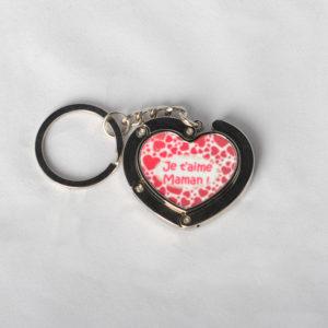 Porte-clefs accroche sac cœur