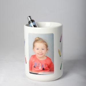 Pot à crayons en céramique